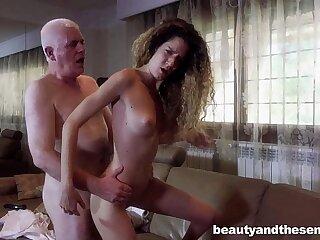 Teen Monique fuck elderly Nick