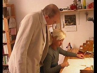 Blonde Teen Seduces Old Instructor Teacher