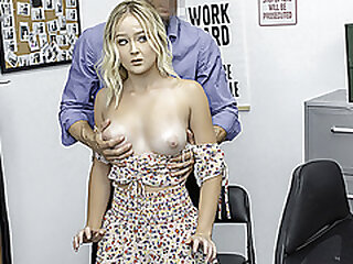 ShopLyfter - Sexy Blonde Teen Caught Stealing Takes A Facial From Security
