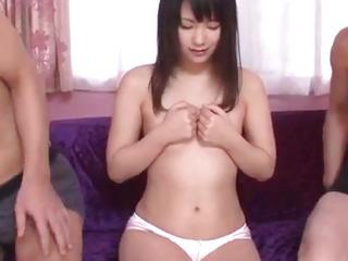 Tsuna Kimura, amazing scenes of raw threesome sex