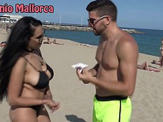 Antonio Mallorca Katrina Moreno Blowjob at beach