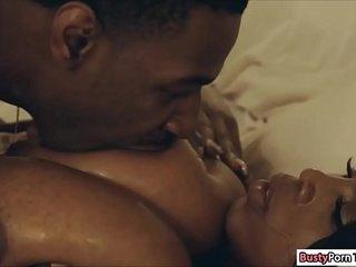 Ebony Maserati giving her guy a titjob