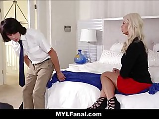Big Tits Big Ass Blonde Hot MILF Stepmom Anal Orgasm Sex With Young Big Cock Stepson