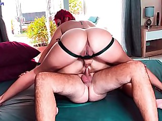 Hot 3-some strapon double fuck