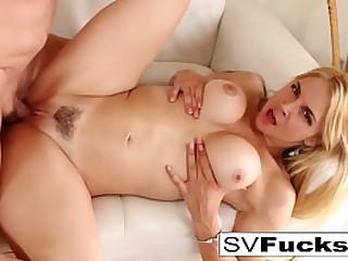 Hot blonde  bangs