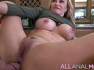 FULL SCENE on http://ALLAnalMOM.com - Claudia Valentine has a delicious peach booty - Turns out, the MILF wants a different kind of lunch meat in her tight ass, and her s.'s best bud is the perfect guy to supply it.